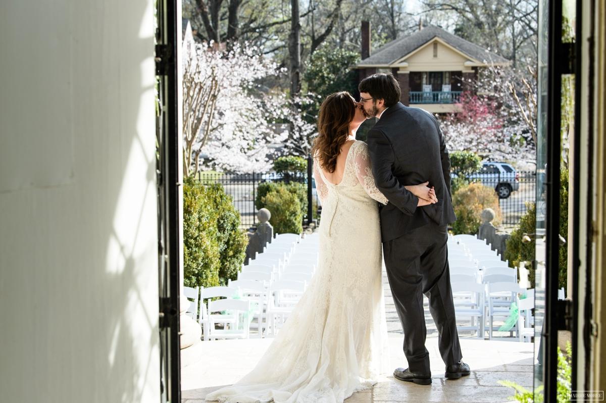 bride groom first look portraits spring