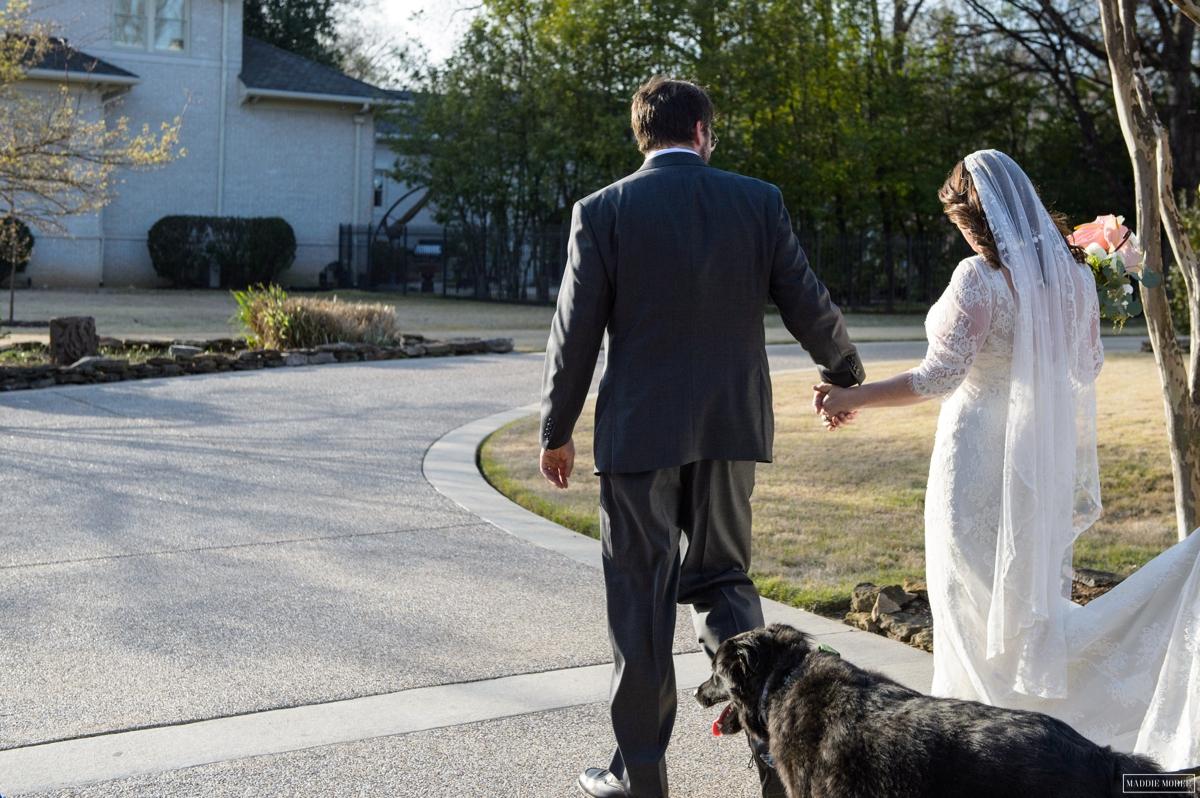 bride groom family shot
