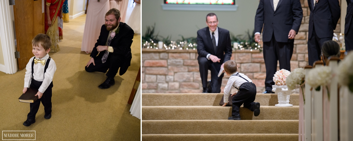 ceremony ring bearer candid maddie moree