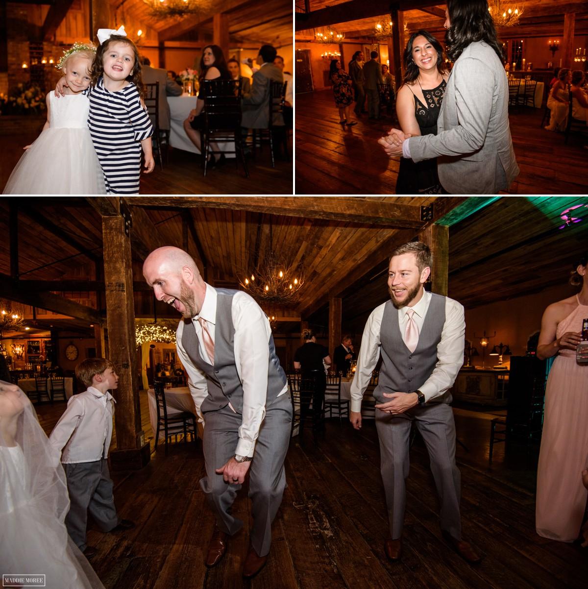 reception dancing heartwoodhall the barn