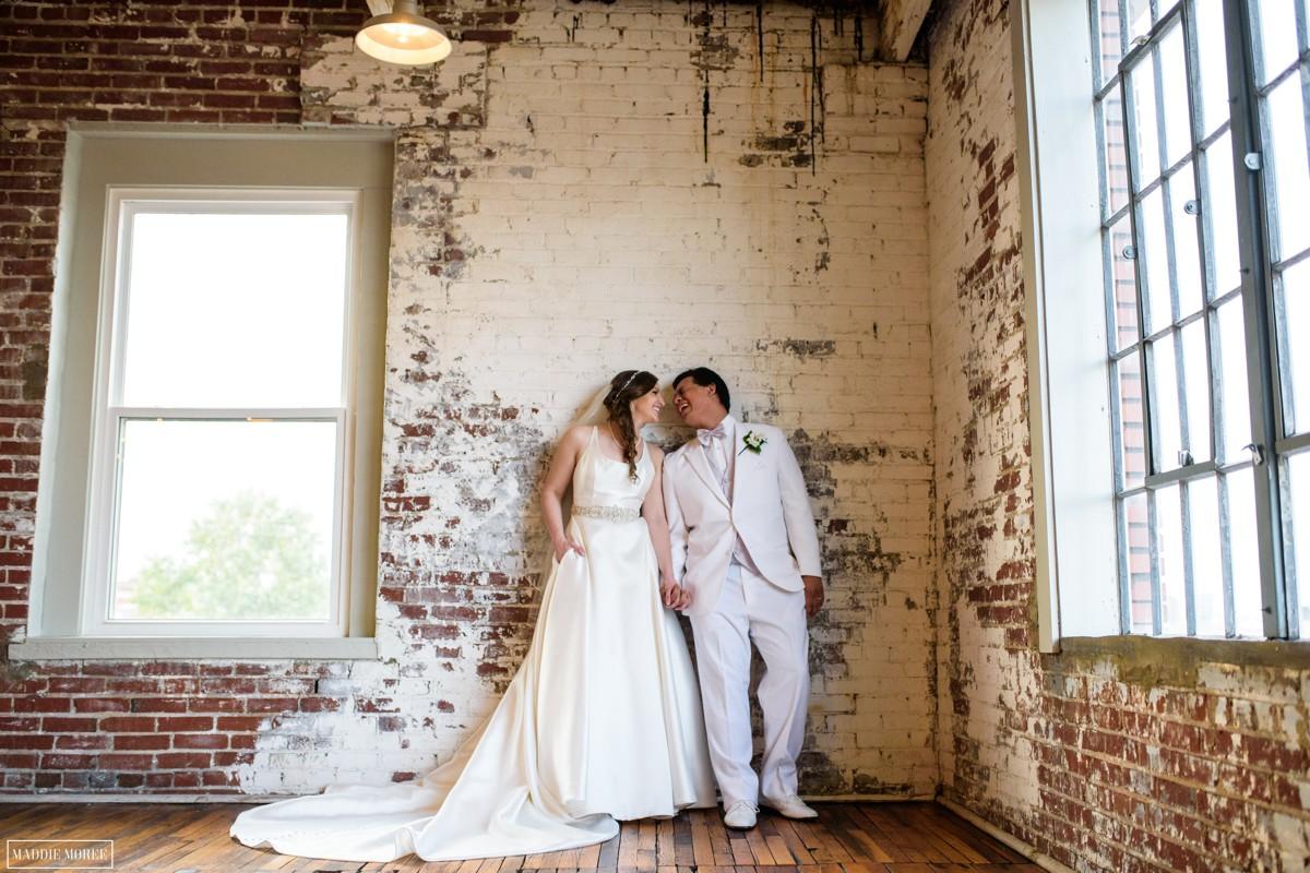 Bride groom portraits maddie moree 409 south main
