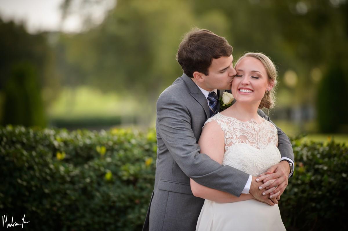 bride groom snuggles