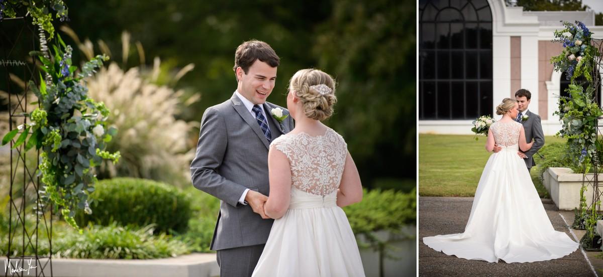 Bride groom first look pink palace maddie moree
