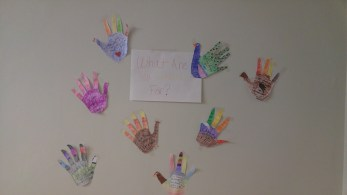 The beginning of our thankfulness wall