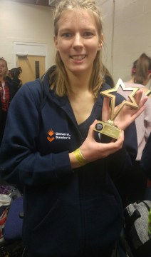 Me with 2nd place tap trophy