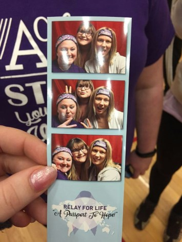 Saige, Cat and me at Relay