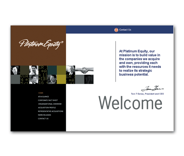 Platinum Equity Website Design