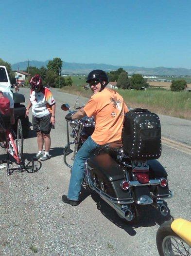 Steve Helping a rider