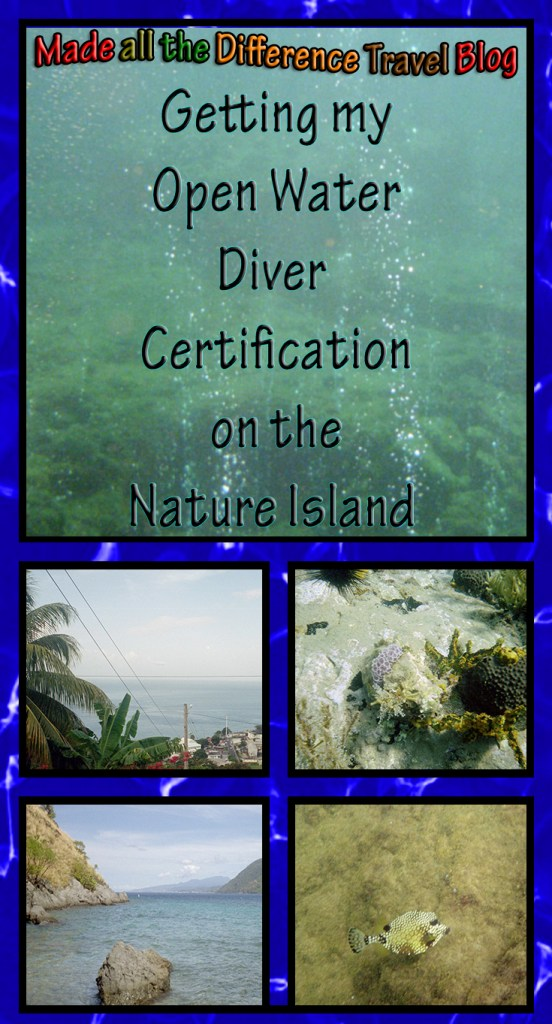 Getting my Open water Diver Certification on the Nature Island