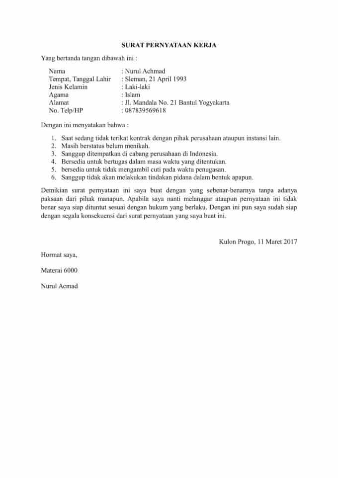 16 Contoh Surat Pernyataan Penyesalan Kerja Bebas Narkoba