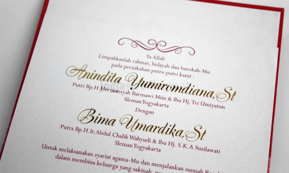 Contoh Surat Undangan Pernikahan