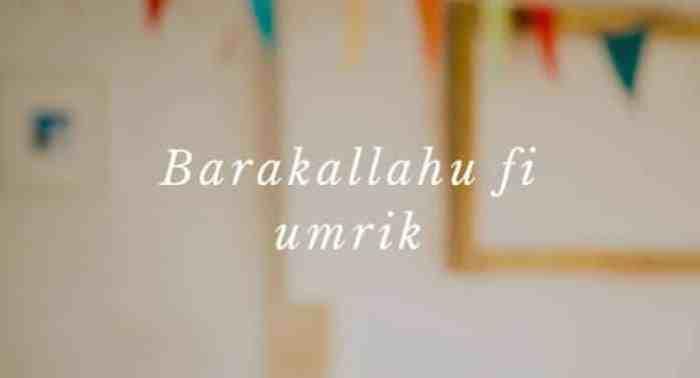Ucapan Ulang Tahun Islami 1