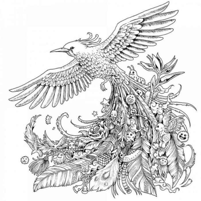 Karakteristik Dari Gambar Doodle Art Mengenai Burung