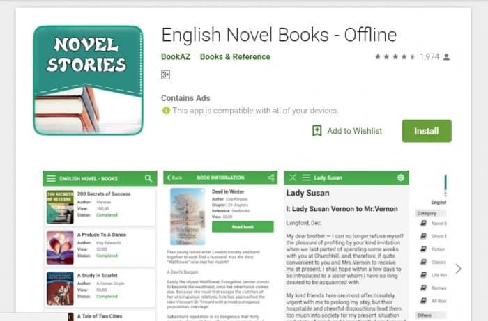 ENGLISH NOVEL BOOKS
