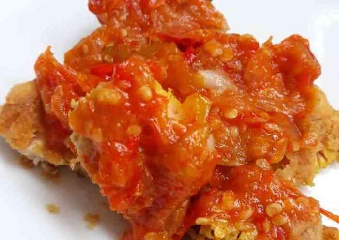 Resep Ayam Geprek Sambal Tomat