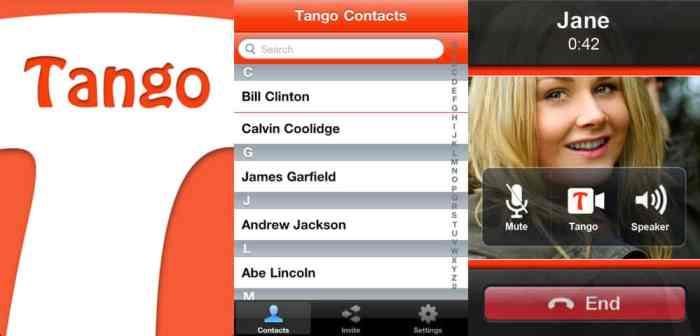 TANGO VIDEO CALL