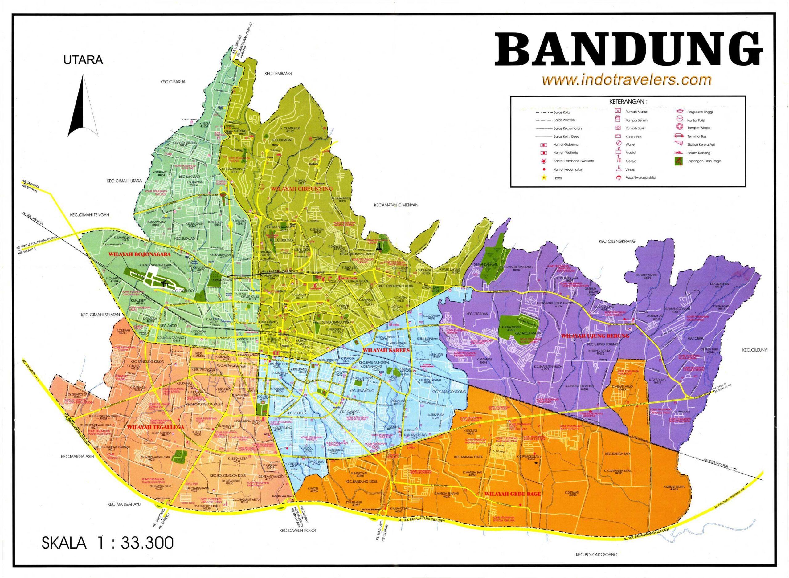 Wilayah Peta Bandung