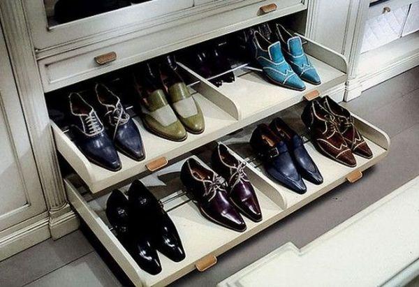 Полки для обуви в шкаф купе: сетчатые, выдвижные, откидные