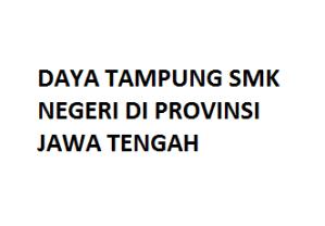 Daftar Daya Tampung SMK Negeri Jawa Tengah Kuota Pendaftaran Online