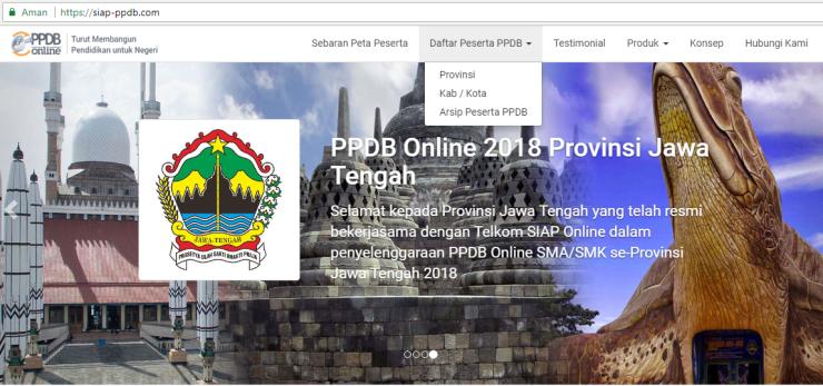 Halaman depan siap ppdb online