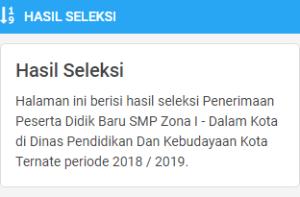 Hasil Seleksi PPDB SMP Negeri Kota Ternate