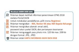 Cara Mengisi Formulir Pendaftaran CPNS Membuat akun sscn bkn