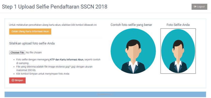 form upload foto selfie isi biodata pendaftaran cpns