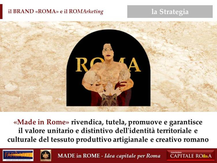 "il Brand ""Roma"" e il RoMarketing per il Made in Rome"