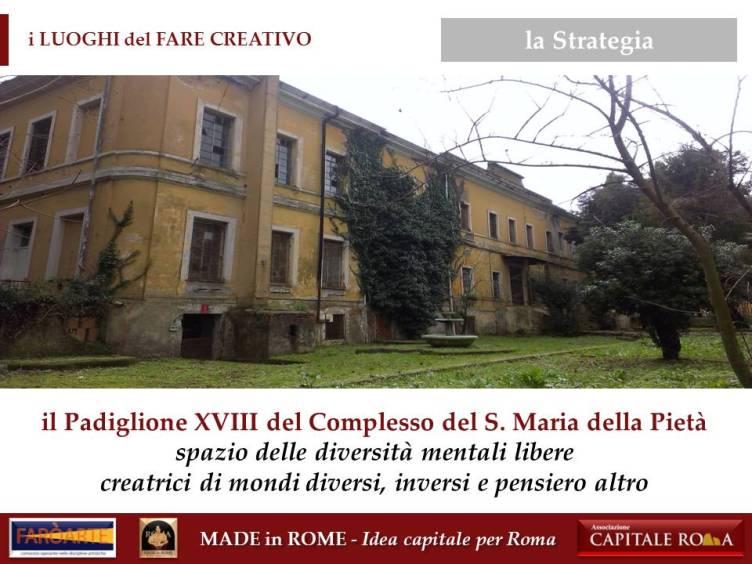 il Pad. XVIII del Complesso del Santa Maria della Pietà per il Made in Rome