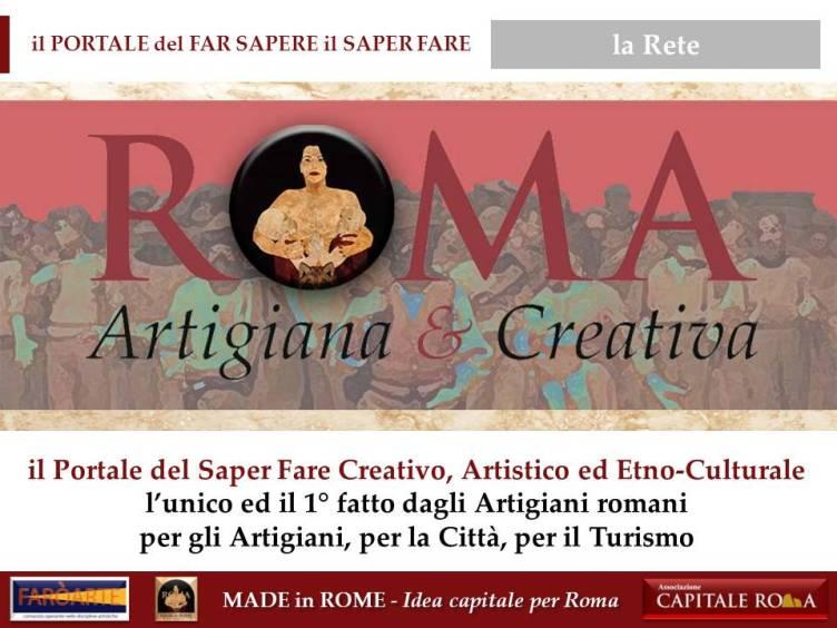 il Portale Roma Artigiana & creativa per il Made in Rome
