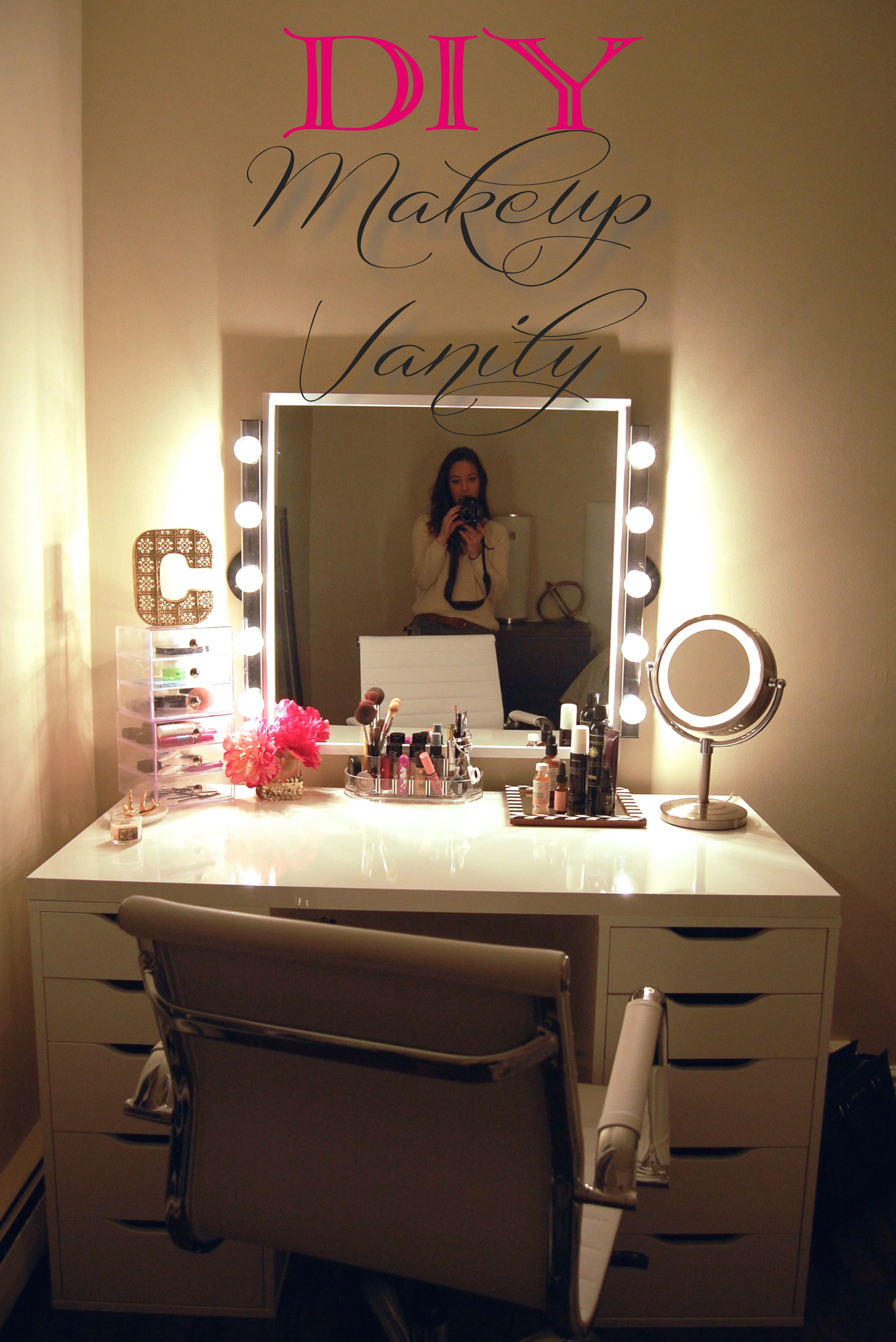 DIY Makeup Vanity - Made2Style on Makeup Room Ideas  id=25372