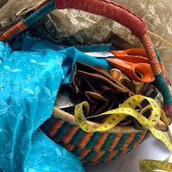 My sewing basket and contents