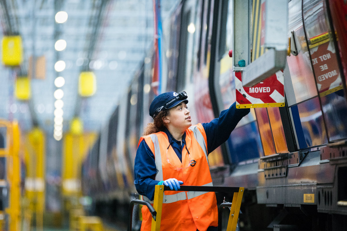 Tube engineer at Ealing Common Depot