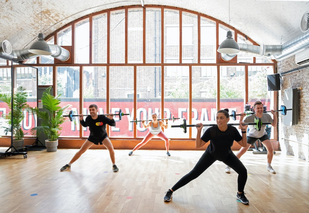 Exercise class at FRAME located in TfL arches in Shoreditch