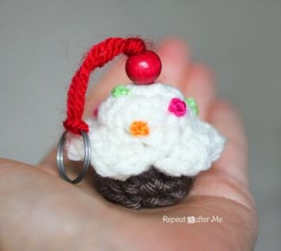 patron crochet le porte cle cupcake