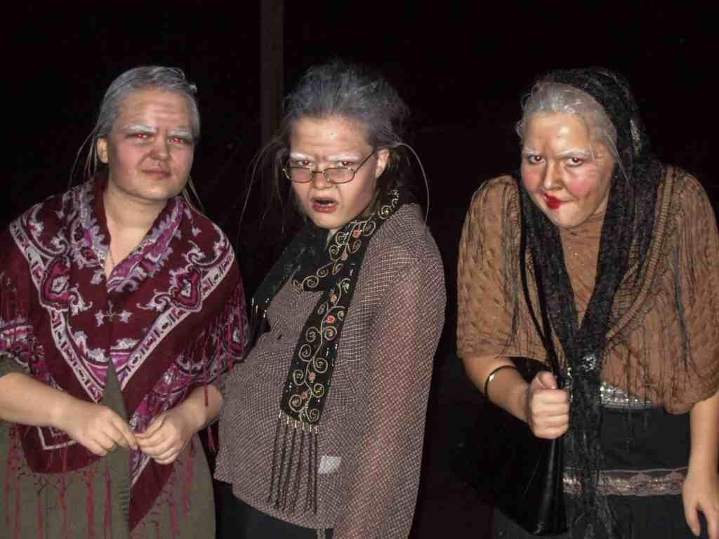 Halloween kostyme gammel dame