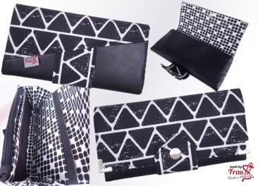 Black-and-white-Collage-Geldbörse