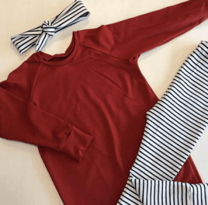 Sweaterdress Roest stripes legging