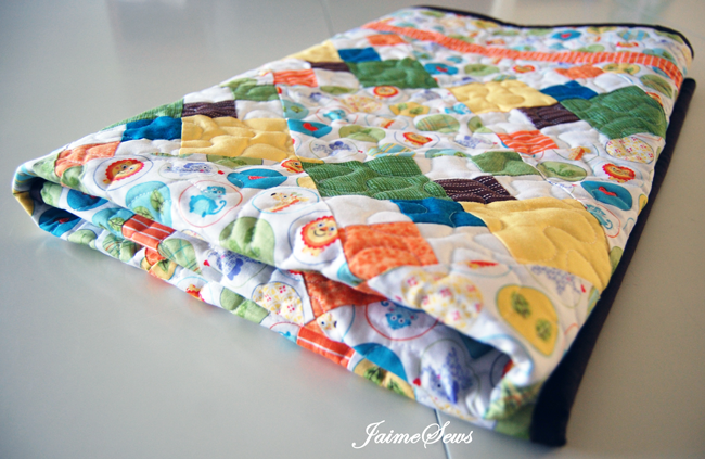 Jungle Baby Quilt | JaimeSews