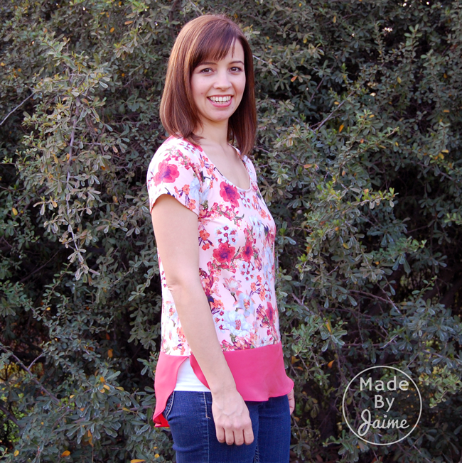 Straight Stitch Designs' Bellevue Top | Made By Jaime