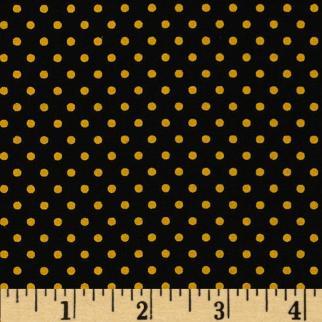 black yellow dot