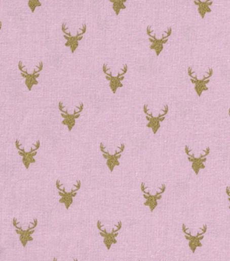 deerheads on pink