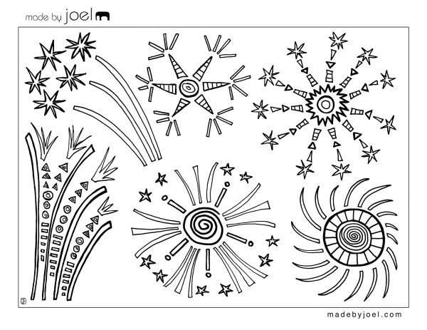 firework coloring pages # 6