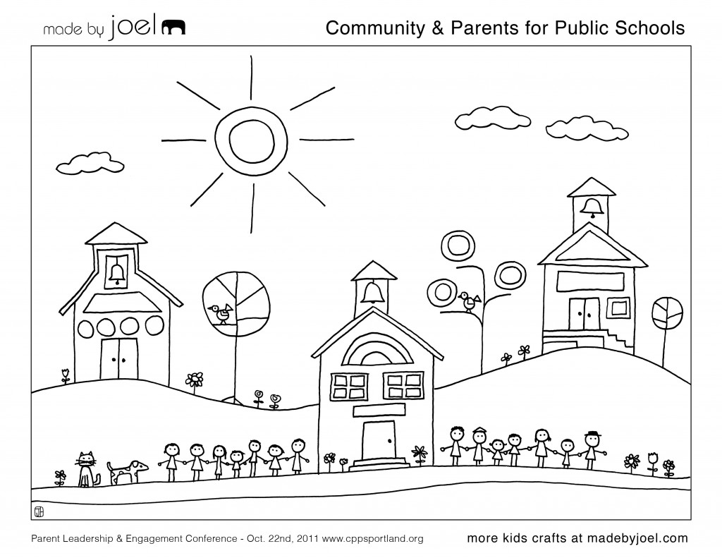 Community Amp Parents For Public Schools Coloring Sheet