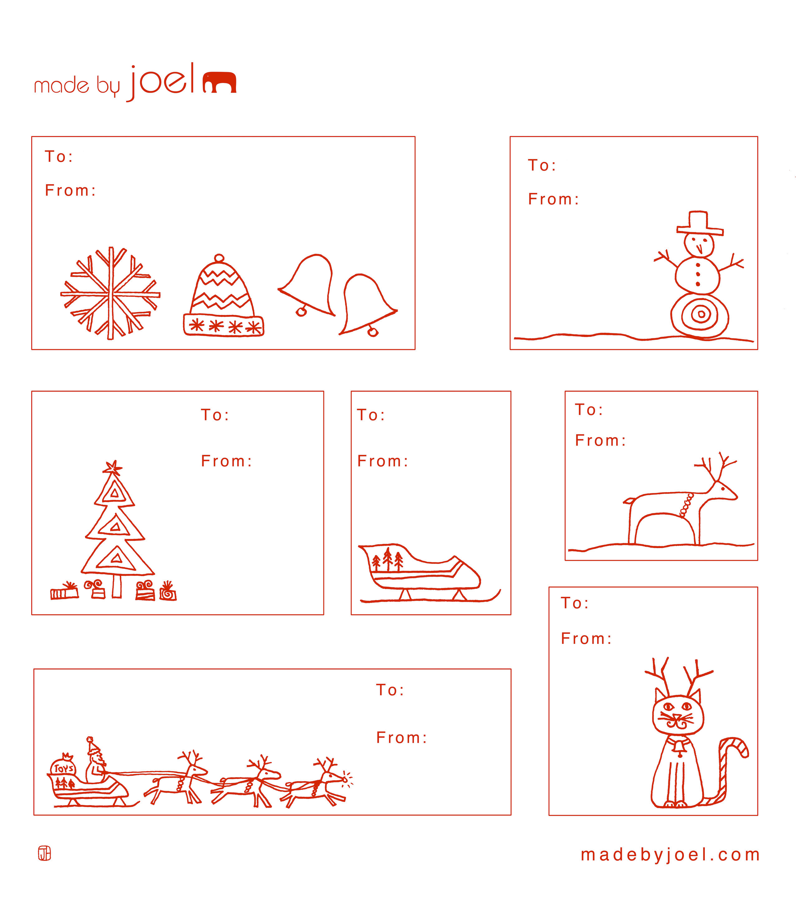 Made By Joel Holiday T Tag Templates