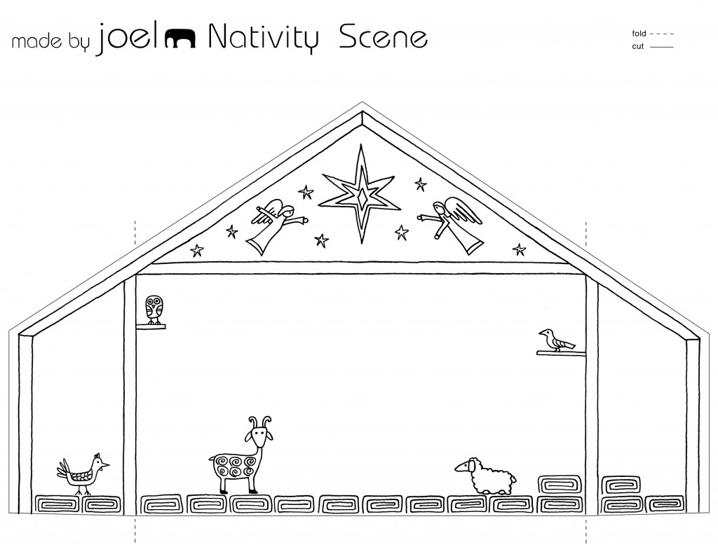 Christmas Nativity Free Printable Worksheet Pre K