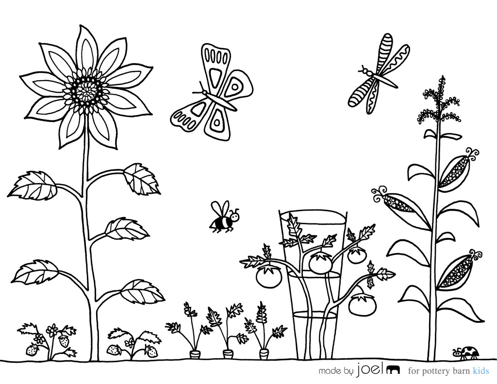 Made By Joel Vegetable Garden Coloring Sheet