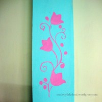 Wall Art - Handmade stenciling a try :-)