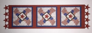 Four Flags Runner with Lacy Red Stars