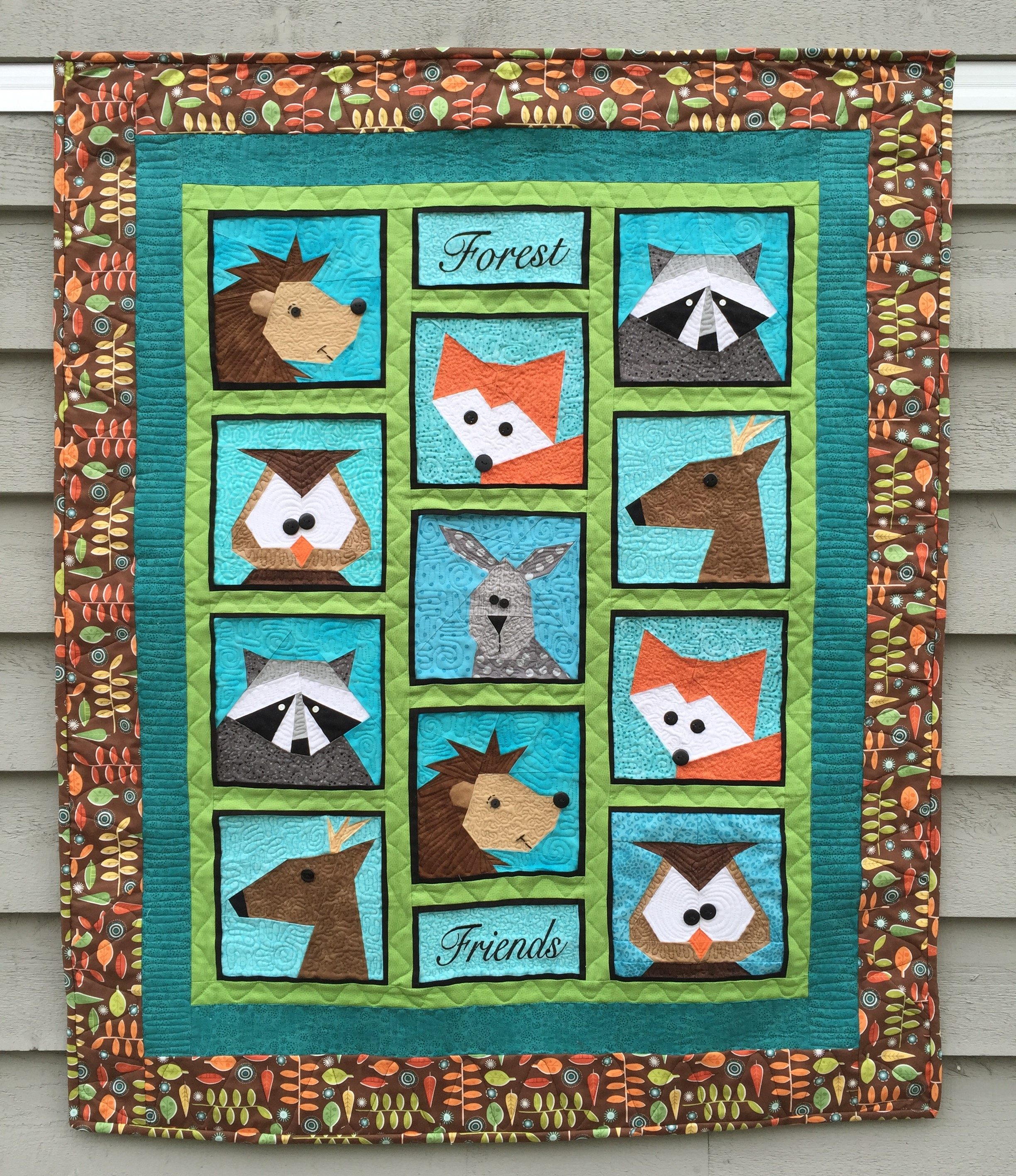 Forest Friends  Paper Pieced Quilt and Table Runner - Made By Marney : paper pieced quilts - Adamdwight.com